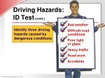 driving hazards id test cont