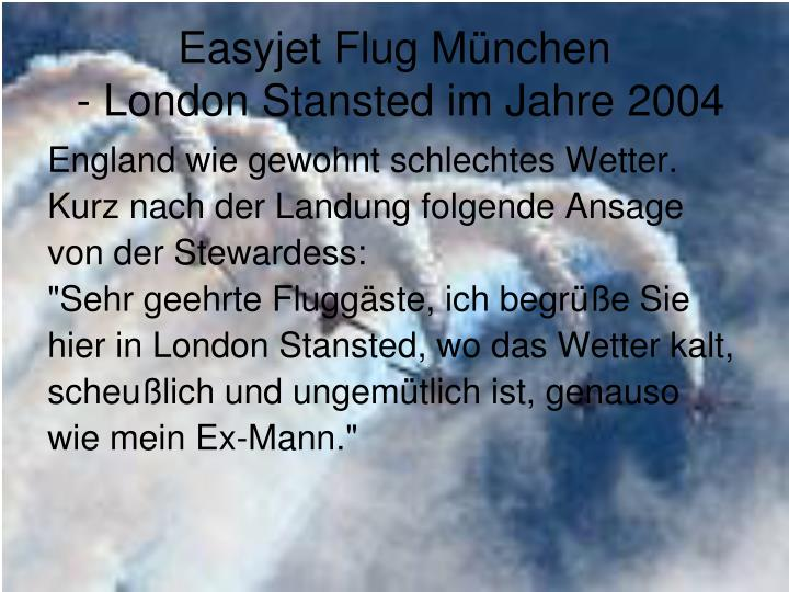 Easyjet Flug München