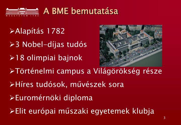 A BME bemutatása