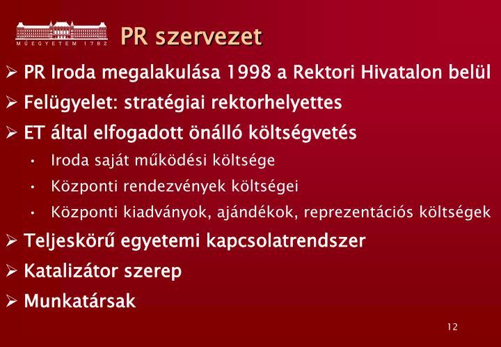 PR szervezet