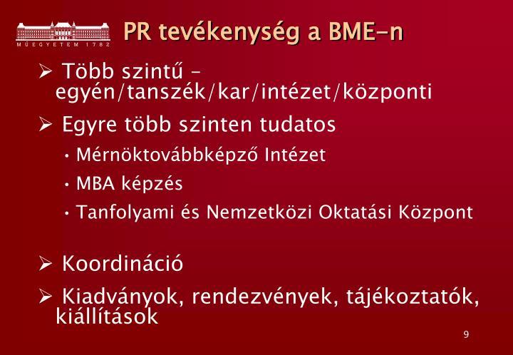 PR tevékenység a BME-n