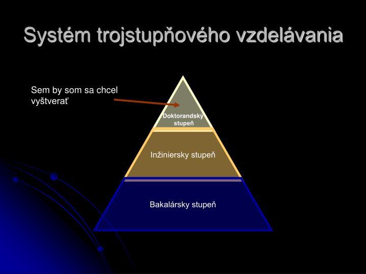 Systém trojstupňového vzdelávania