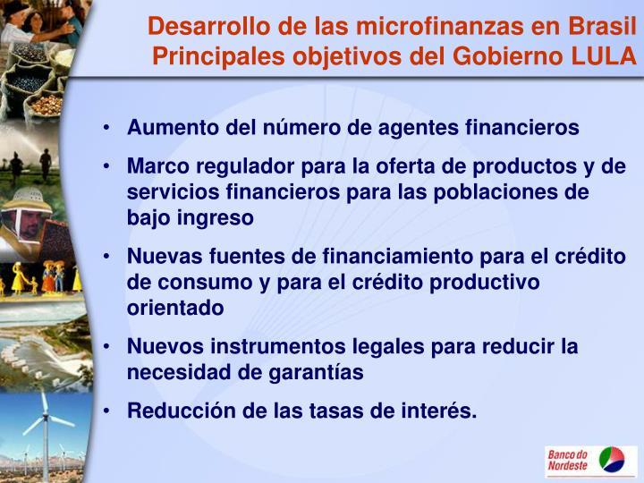 Desarrollo de las microfinanzas en Brasil