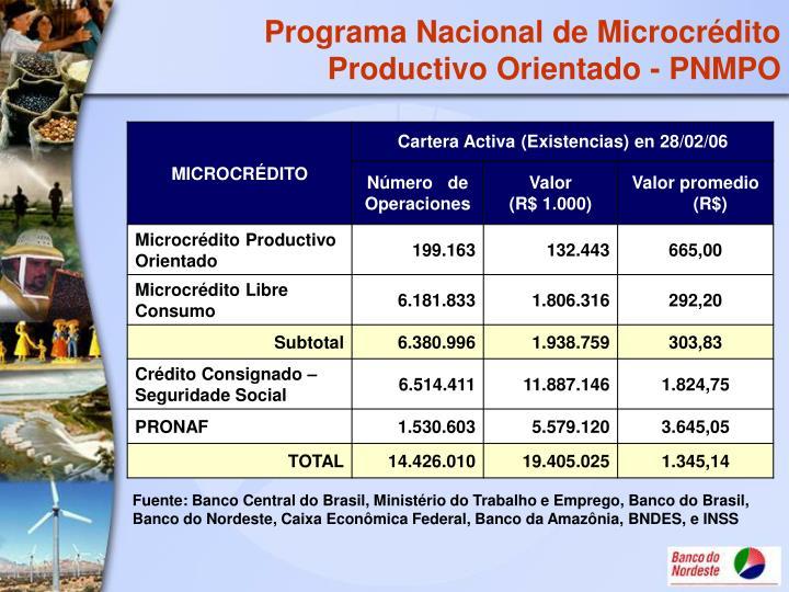 Programa Nacional de Microcrédito