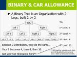 binary car allowance