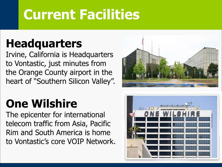 Current Facilities