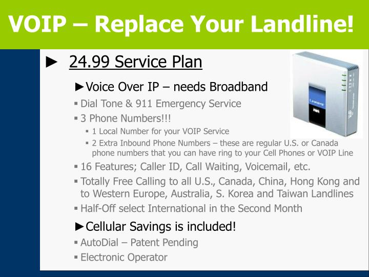 VOIP – Replace Your Landline!