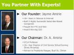 you partner with experts