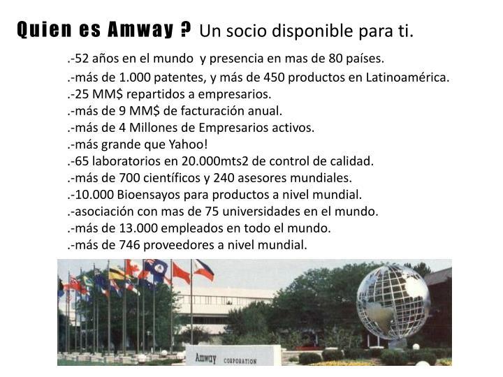 Quien es Amway ?
