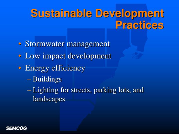 Sustainable Development Practices