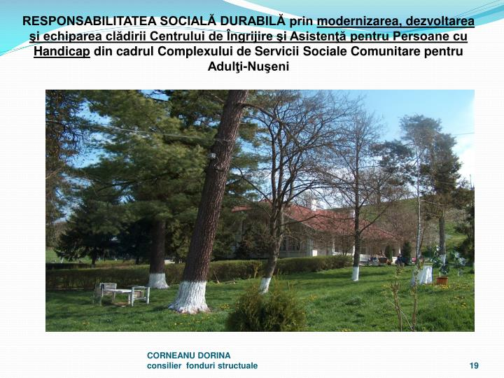 RESPONSABILITATEA SOCIAL DURABIL prin