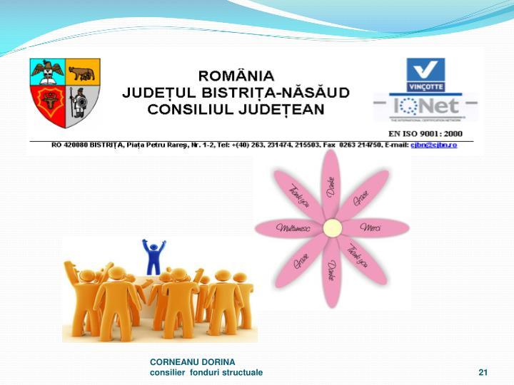 CORNEANU DORINA                                            consilier  fonduri structuale