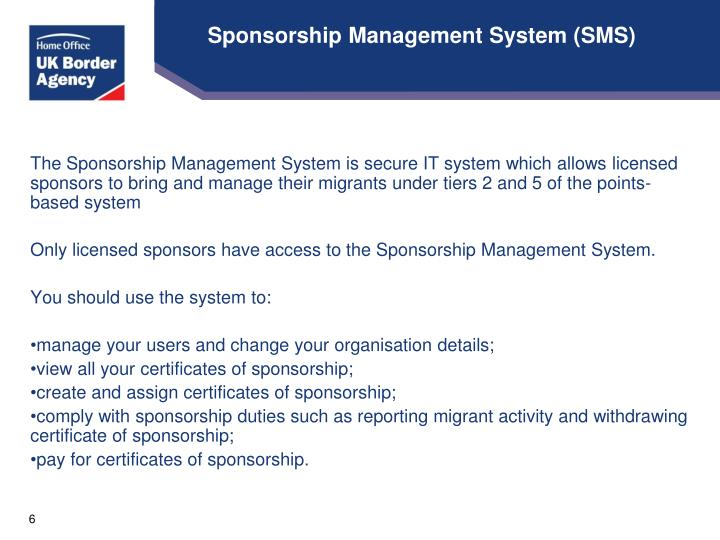 Sponsorship Management System (SMS)