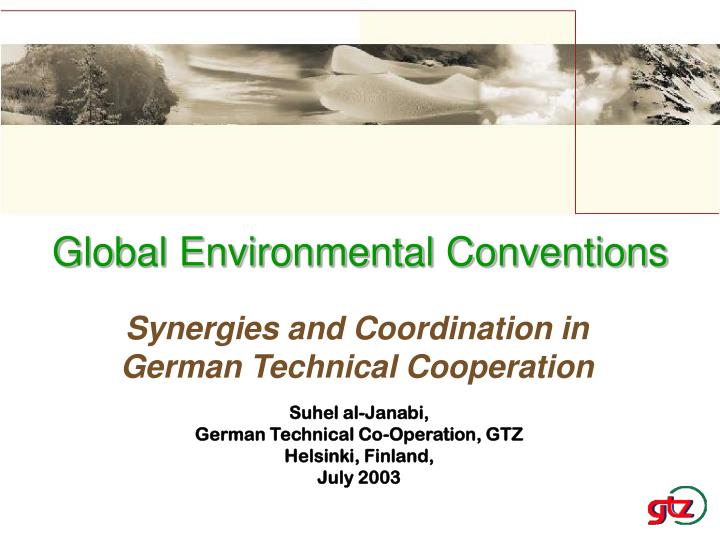 Global environmental conventions