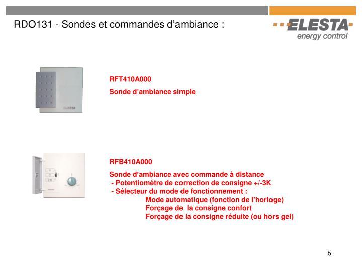 RDO131 - Sondes et commandes d'ambiance