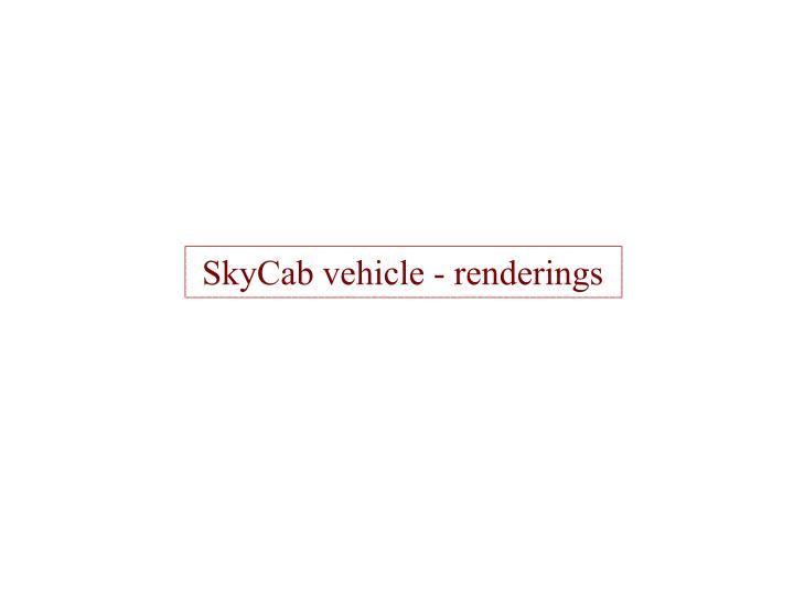 SkyCab vehicle - renderings