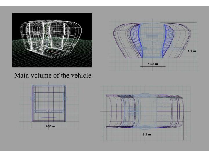 Main volume of the vehicle
