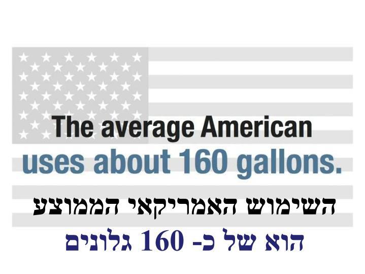 השימוש האמריקאי הממוצע
