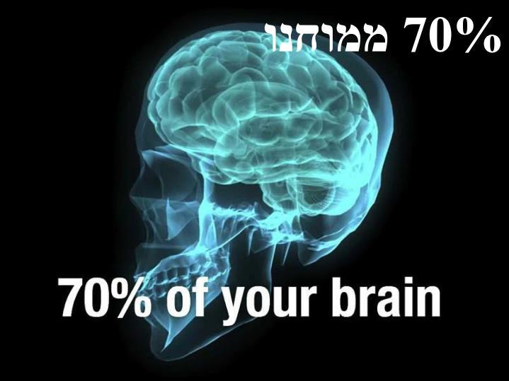 70% ממוחנו