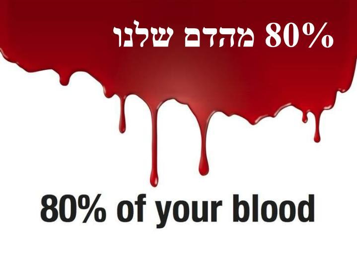 80% מהדם שלנו