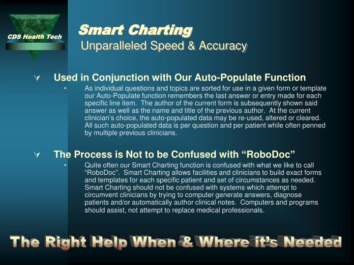 Smart charting unparalleled speed accuracy