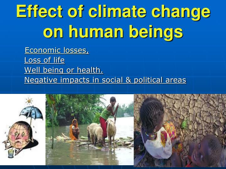 Effect of climate change on human beings