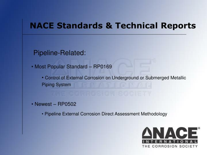NACE Standards & Technical Reports