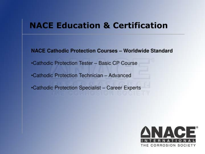 NACE Education & Certification