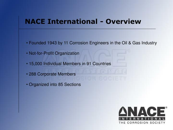 NACE International - Overview