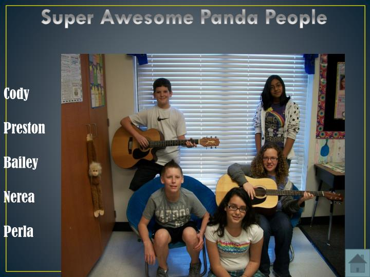 Super Awesome Panda People