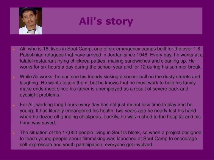 Ali's story