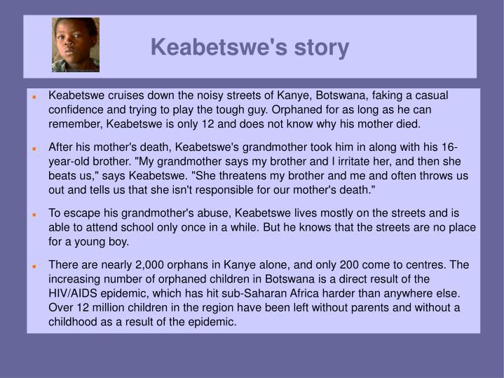 Keabetswe's story