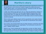 martha s story