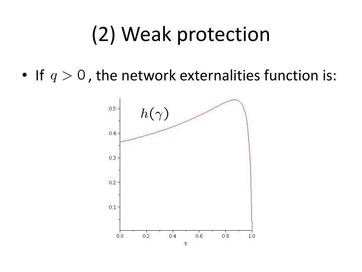 (2) Weak protection