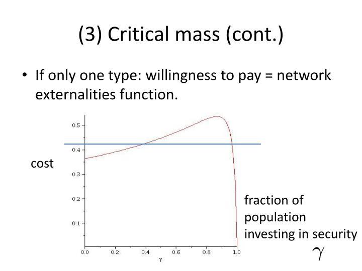 (3) Critical mass (cont.)