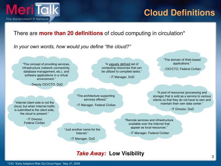 Cloud Definitions