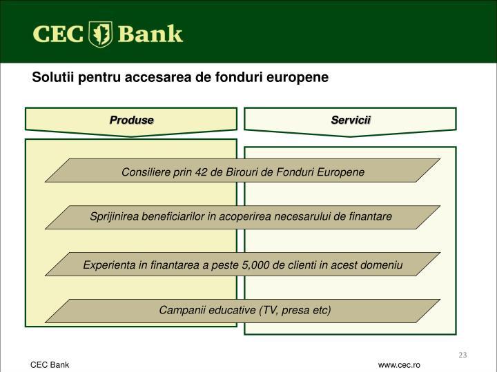 Consiliere prin 42 de Birouri de Fonduri Europene