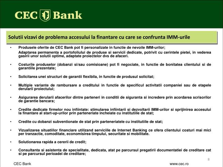 Solutii vizavi de problema accesului la finantare cu care se confrunta IMM-urile