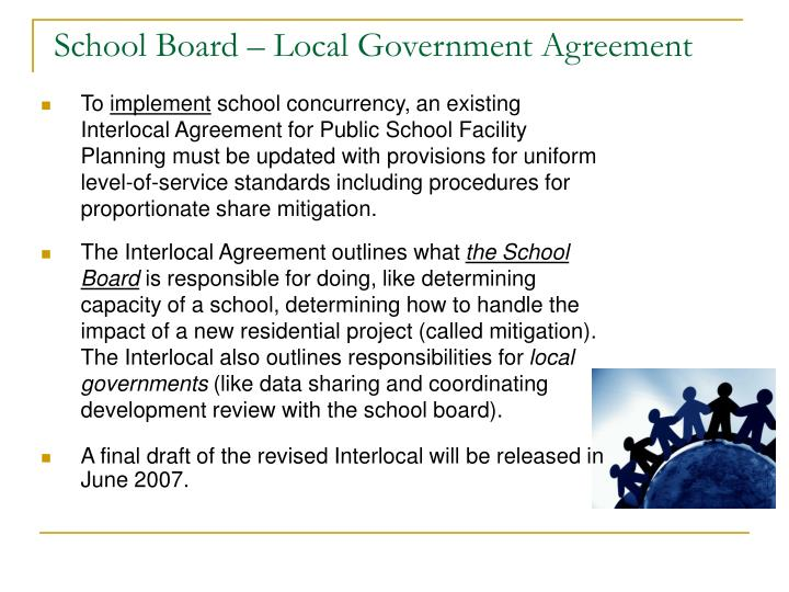 School Board – Local Government Agreement