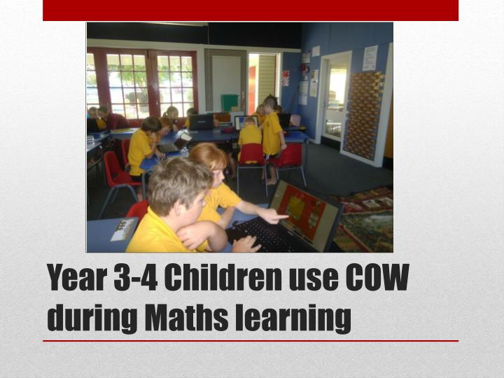Year 3 4 children use cow during maths learning