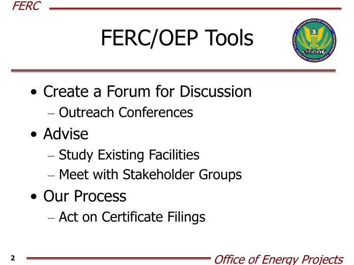 FERC/OEP Tools
