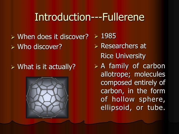 Introduction fullerene
