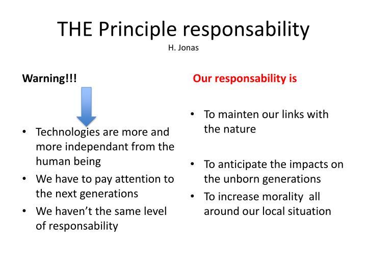 THE Principle responsability