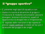 il gruppo sportivo