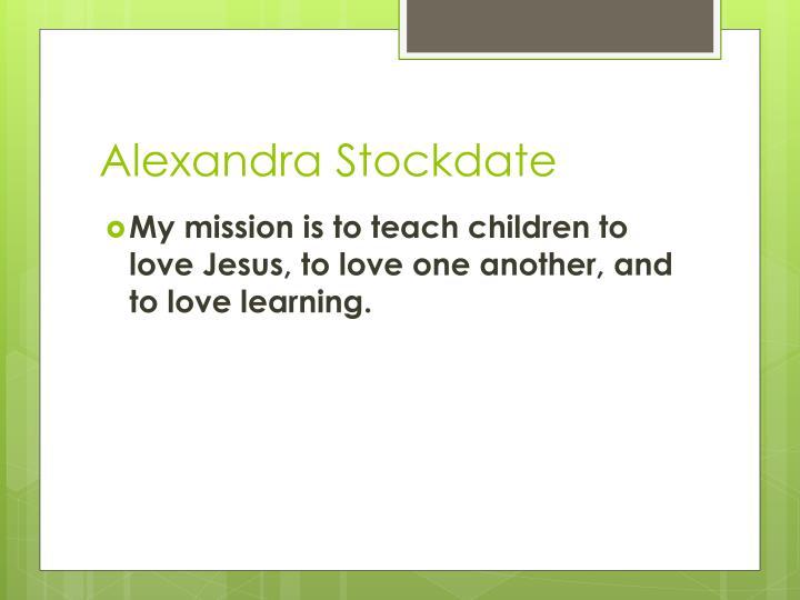 Alexandra Stockdate