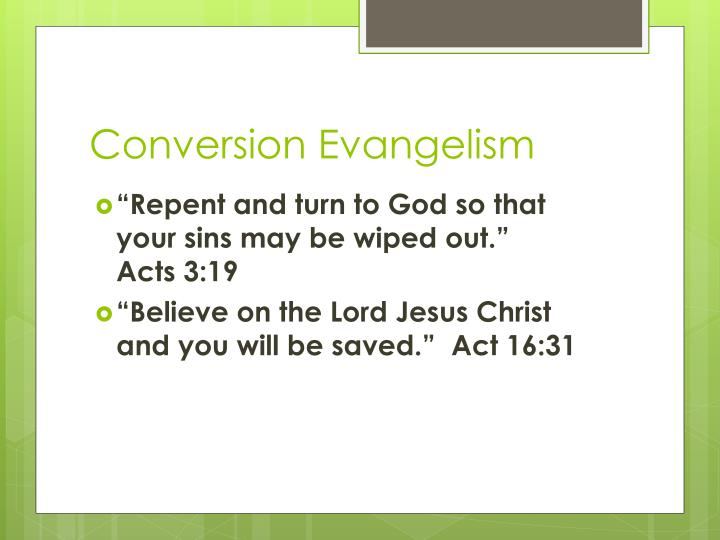 Conversion Evangelism