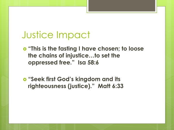 Justice Impact