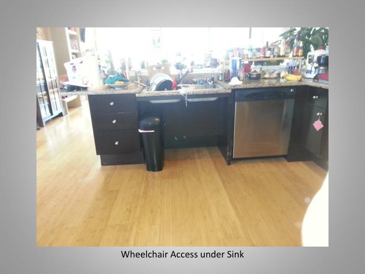 Wheelchair Access under Sink