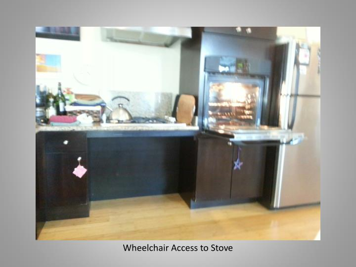Wheelchair Access to Stove