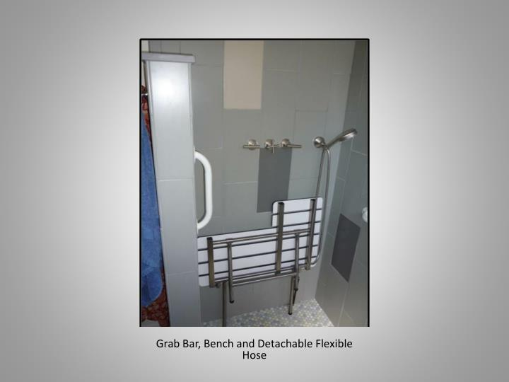 Grab Bar, Bench and Detachable Flexible Hose